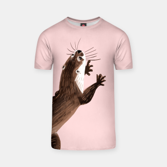 Thumbnail image of Asian small-clawed otter Tshirt, Live Heroes