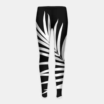 Thumbnail image of Tropical Palm Leaf #2 #botanical #decor #art Kinder-Leggins, Live Heroes