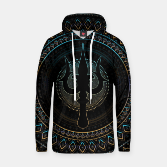 Thumbnail image of Trisula  -Trident of Shiva Cotton hoodie, Live Heroes