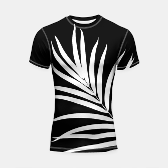 Thumbnail image of Tropical Palm Leaf #2 #botanical #decor #art Shortsleeve rashguard, Live Heroes