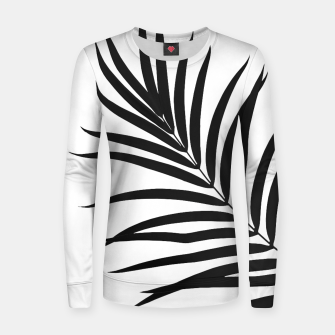 Thumbnail image of Tropical Palm Leaf #1 #botanical #decor #art Frauen baumwoll sweatshirt, Live Heroes