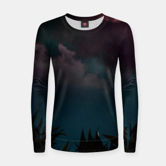 Miniatur Touching the stars Woman cotton sweater, Live Heroes