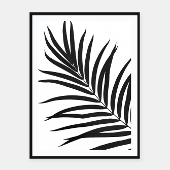 Thumbnail image of Tropical Palm Leaf #1 #botanical #decor #art Plakat mit rahmen, Live Heroes