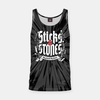Thumbnail image of Sticks and Stones Tank Top, Live Heroes