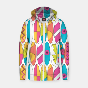 Imagen en miniatura de Rainbow Colored Waikiki Surfboards  Cotton zip up hoodie, Live Heroes