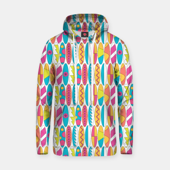 Imagen en miniatura de Mini Rainbow Colored Waikiki Surfboards  Cotton hoodie, Live Heroes