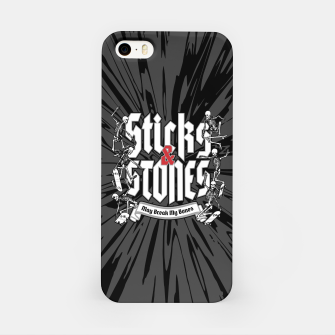 Thumbnail image of Sticks and Stones iPhone Case, Live Heroes