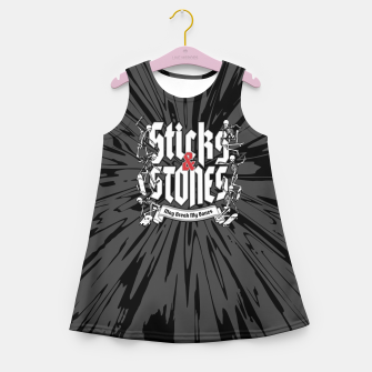 Miniaturka Sticks and Stones Girl's summer dress, Live Heroes
