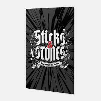 Thumbnail image of Sticks and Stones Canvas, Live Heroes