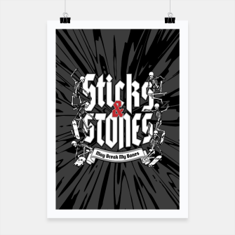 Miniaturka Sticks and Stones Poster, Live Heroes