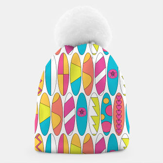 Miniatur Rainbow Colored Waikiki Surfboards  Beanie, Live Heroes