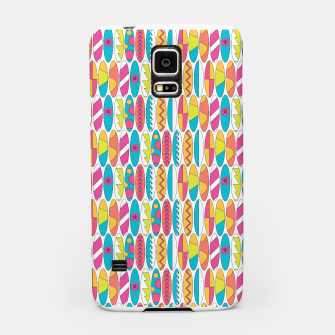 Imagen en miniatura de Mini Rainbow Colored Waikiki Surfboards  Samsung Case, Live Heroes