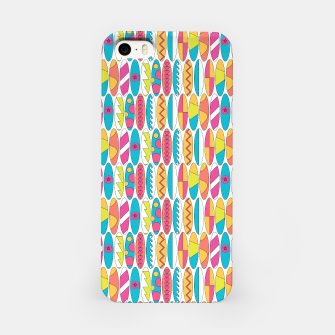 Imagen en miniatura de Mini Rainbow Colored Waikiki Surfboards  iPhone Case, Live Heroes