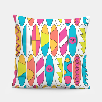 Imagen en miniatura de Rainbow Colored Waikiki Surfboards  Pillow, Live Heroes