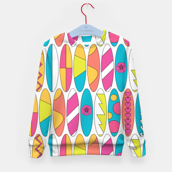 Imagen en miniatura de Rainbow Colored Waikiki Surfboards  Kid's sweater, Live Heroes