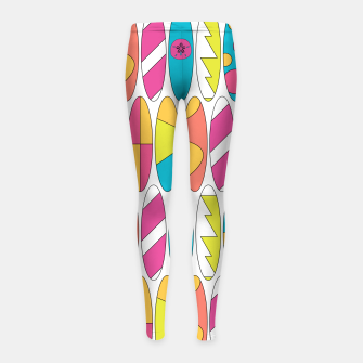 Imagen en miniatura de Rainbow Colored Waikiki Surfboards  Girl's leggings, Live Heroes