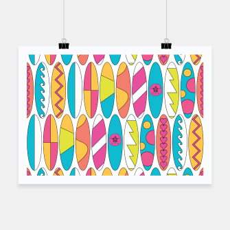 Miniatur Rainbow Colored Waikiki Surfboards  Poster, Live Heroes