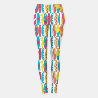 Imagen en miniatura de Mini Rainbow Colored Waikiki Surfboards  Leggings, Live Heroes