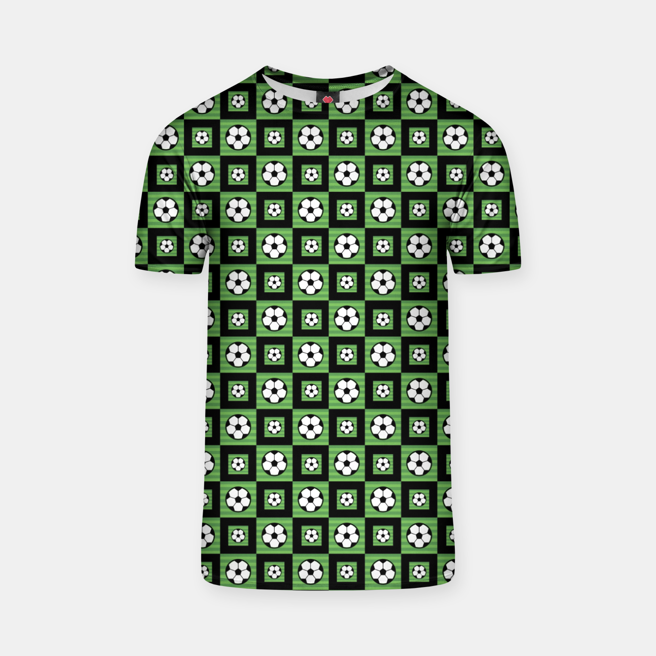 Image of Soccer Motif Pattern T-shirt - Live Heroes