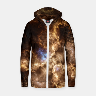 Thumbnail image of Fire Clouds Cotton zip up hoodie, Live Heroes