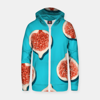 Thumbnail image of Fig Lover Cotton zip up hoodie, Live Heroes