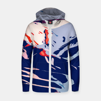 Thumbnail image of Winter Sunrise Cotton zip up hoodie, Live Heroes