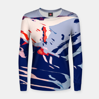 Thumbnail image of Winter Sunrise Woman cotton sweater, Live Heroes