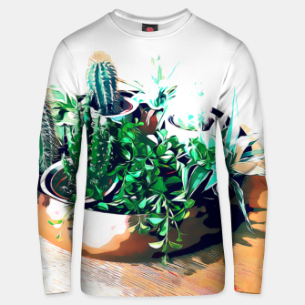 Thumbnail image of Cacti in a Copper Pot Cotton sweater, Live Heroes