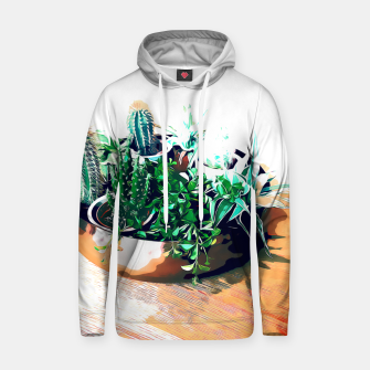 Thumbnail image of Cacti in a Copper Pot Cotton hoodie, Live Heroes
