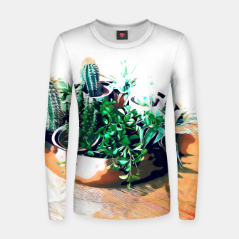 Thumbnail image of Cacti in a Copper Pot Woman cotton sweater, Live Heroes