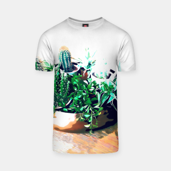 Thumbnail image of Cacti in a Copper Pot T-shirt, Live Heroes
