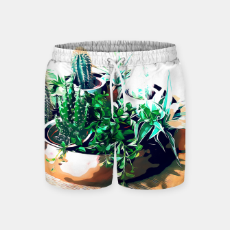 Thumbnail image of Cacti in a Copper Pot Swim Shorts, Live Heroes