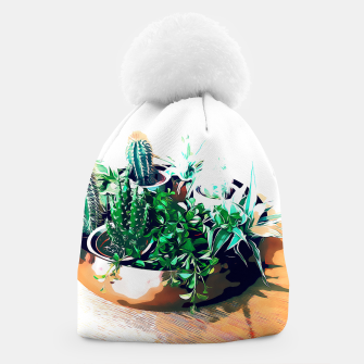 Thumbnail image of Cacti in a Copper Pot Beanie, Live Heroes