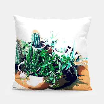 Thumbnail image of Cacti in a Copper Pot Pillow, Live Heroes
