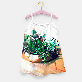 Thumbnail image of Cacti in a Copper Pot Girl's dress, Live Heroes