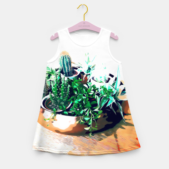 Thumbnail image of Cacti in a Copper Pot Girl's summer dress, Live Heroes