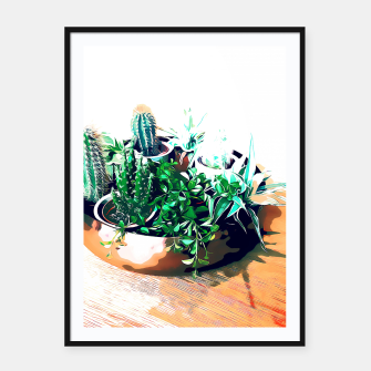 Thumbnail image of Cacti in a Copper Pot Framed poster, Live Heroes