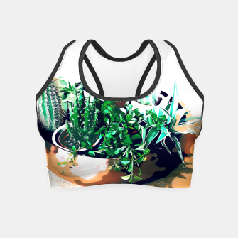 Thumbnail image of Cacti in a Copper Pot Crop Top, Live Heroes