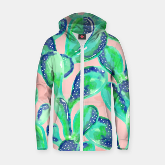 Thumbnail image of Cactus Life || Cotton zip up hoodie, Live Heroes