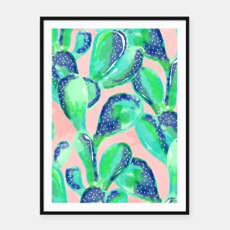 Thumbnail image of Cactus Life    Framed poster, Live Heroes