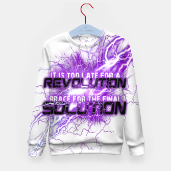 Thumbnail image of Muse Thought contagion Enfantin sweatshirt, Live Heroes