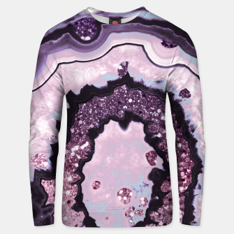Thumbnail image of Unicorn Girls Glitter Agate #1 #gem #shiny #pastel #decor #art Baumwoll sweatshirt, Live Heroes