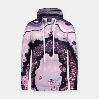 Thumbnail image of Unicorn Girls Glitter Agate #1 #gem #shiny #pastel #decor #art Baumwoll Kapuzenpullover, Live Heroes