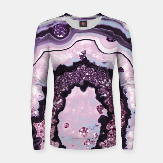 Thumbnail image of Unicorn Girls Glitter Agate #1 #gem #shiny #pastel #decor #art Frauen baumwoll sweatshirt, Live Heroes