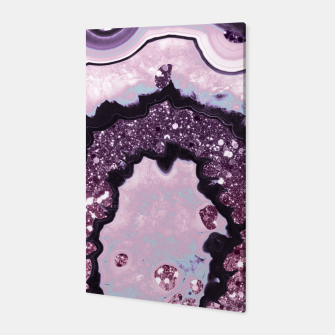 Thumbnail image of Unicorn Girls Glitter Agate #1 #gem #shiny #pastel #decor #art Canvas, Live Heroes