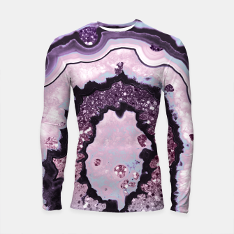Thumbnail image of Unicorn Girls Glitter Agate #1 #gem #shiny #pastel #decor #art Longsleeve rashguard, Live Heroes