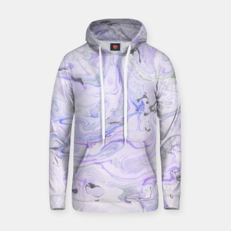 Thumbnail image of Digital Classic Marble in Purple Cotton hoodie, Live Heroes