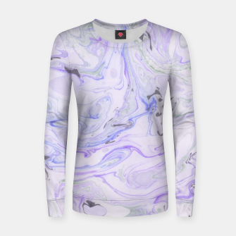 Thumbnail image of Digital Classic Marble in Purple Woman cotton sweater, Live Heroes