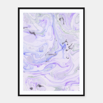Thumbnail image of Digital Classic Marble in Purple Framed poster, Live Heroes
