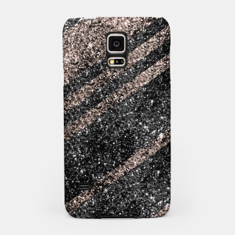 Thumbnail image of Rose Gold Black Glitter Stripes #1 #shiny #decor #art Handyhülle für Samsung, Live Heroes
